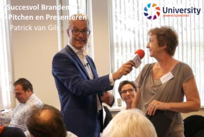 Succesvol Branden, Pitchen & Presenteren - Patrick van Gils - voor beUnited University ZZP MKB Nederland
