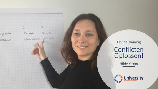 Conflicten Oplossen! Online Training Hilde Kroon beUnited University ZZP MKB Nederland