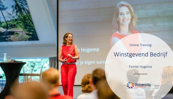 beUnited University Online training Winstgevend Bedrijf Femke Hogema