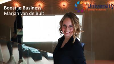 Boost je Bussines door Marjan van de Bult voor beUnited ZZP MKB Nederland
