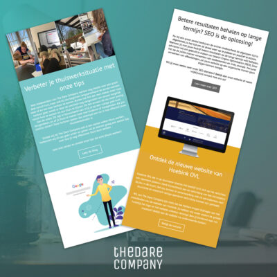 The Dare Company email template
