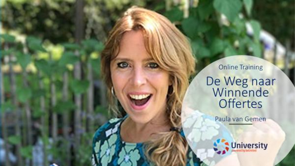 De Weg naar Winnende Offertes online training Paula van Gemen beunited ZZP MKB Nederland